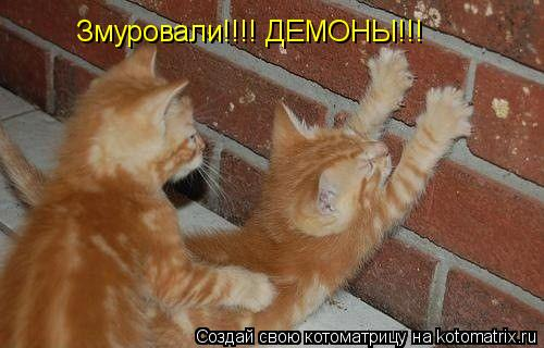 Котоматрица: Змуровали!!!! ДЕМОНЫ!!!