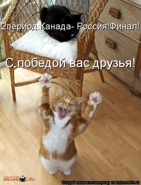 Котоматрица: 2период.Канада- Россия!Финал!  С победой вас друзья!