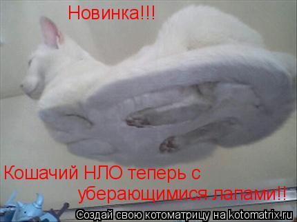 Котоматрица: Новинка!!! Кошачий НЛО теперь с уберающимися лапами!!