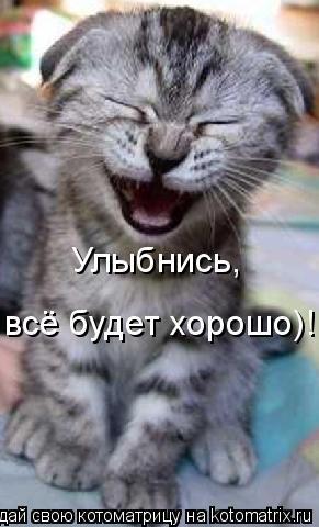 Котоматрица: Улыбнись, всё будет хорошо)!