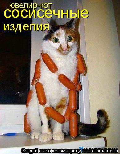 Котоматрица: ювелир-кот сосисечные изделия