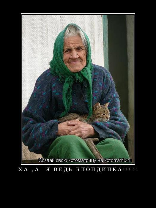 Котоматрица: ха ,а  я ведь блондинка!!!!!
