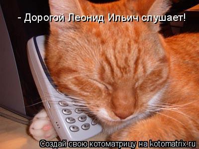 Котоматрица: - Дорогой Леонид Ильич слушает!