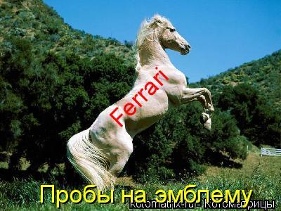Котоматрица: Пробы на эмблему Ferrari