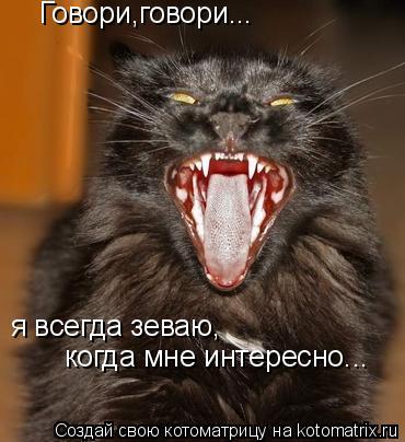 Котоматрица: Говори,говори... я всегда зеваю, когда мне интересно...