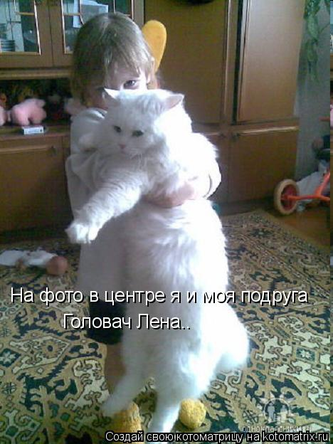 Котоматрица: На фото в центре я и моя подруга Головач Лена..