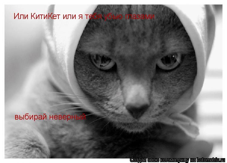 Котоматрица: Или КитиКет или я тебя убью глазами выбирай неверный