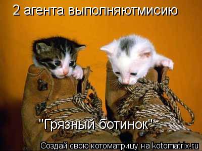 """Котоматрица: 2 агента выполняютмисию """"Грязный ботинок"""""""