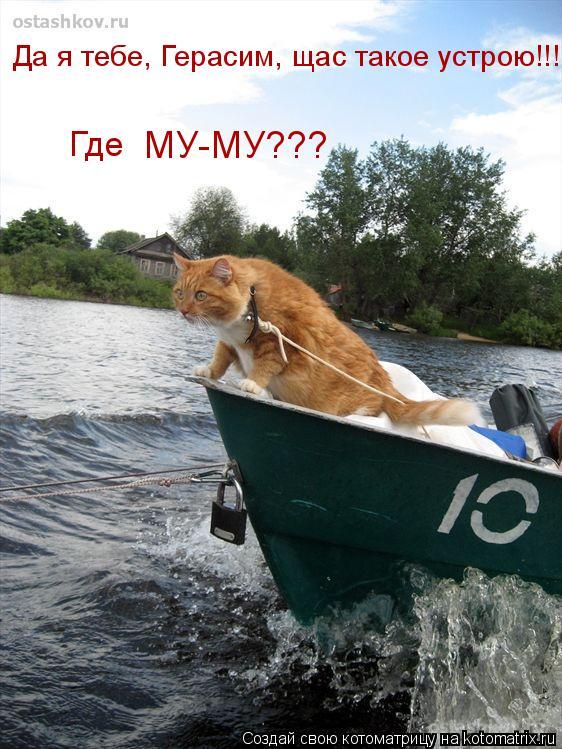 Котоматрица: Где  МУ-МУ??? Да я тебе, Герасим, щас такое устрою!!!