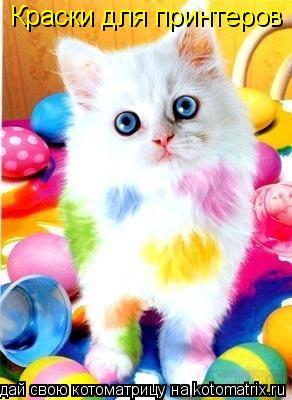 Котоматрица: Краски для принтеров !