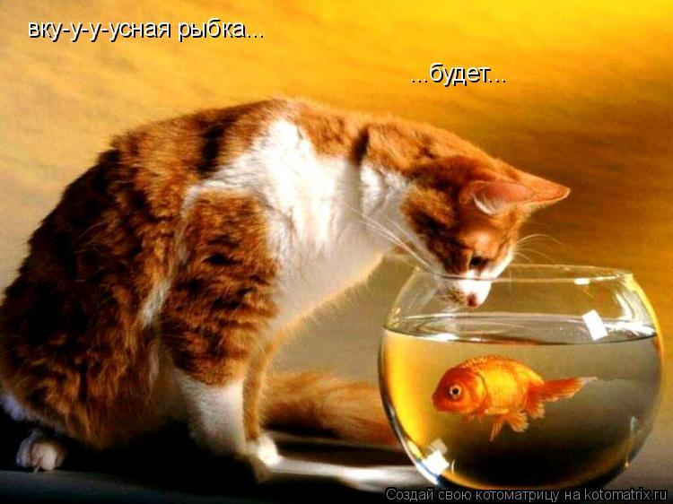 Котоматрица: вку-у-у-усная рыбка... ...будет...