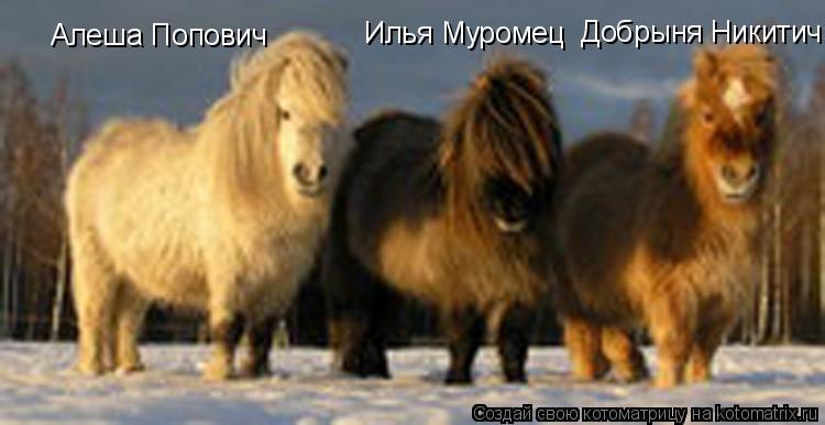 Котоматрица: Алеша Попович Илья Муромец Добрыня Никитич