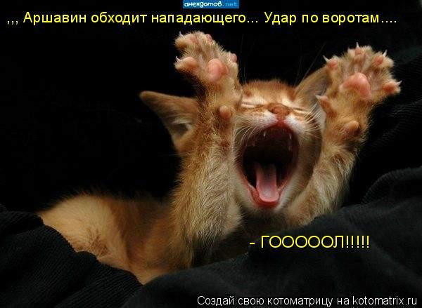 Котоматрица: ,,, Аршавин обходит нападающего... Удар по воротам....  - ГОООООЛ!!!!!