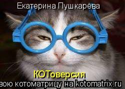 Котоматрица: Екатерина Пушкарёва КОТоверсия