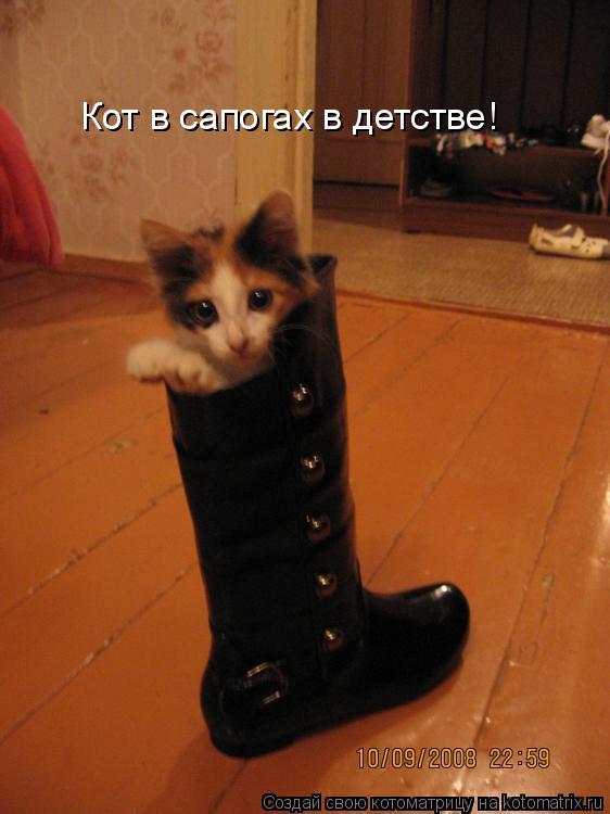 Котоматрица: Кот в сапогах в детстве!