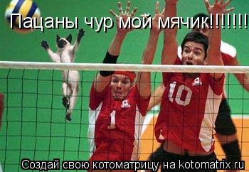 Котоматрица: Пацаны чур мой мячик!!!!!!!