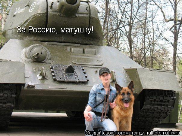 Котоматрица: За Россию, матушку!