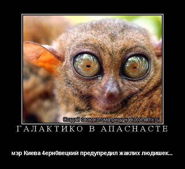 Котоматрица: Галактико в Апаснасте мэр Киева 4ерн0вецкий предупредил жаклих людишек...
