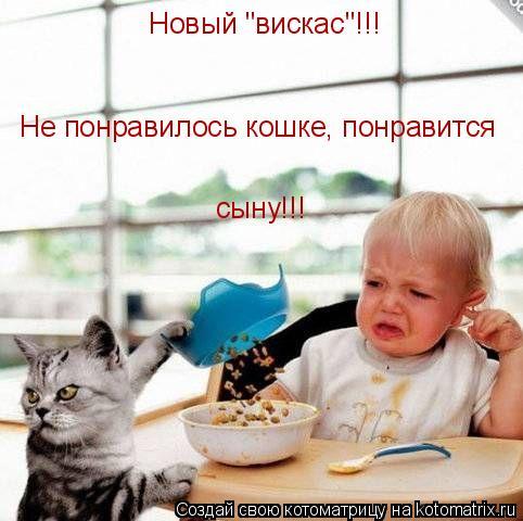 """Котоматрица: Новый """"вискас""""!!! Не понравилось кошке, понравится   сыну!!!"""
