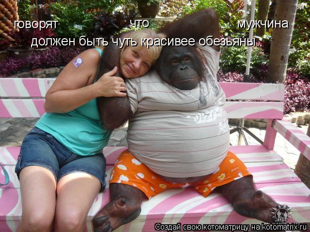 Котоматрица: мужчина  должен быть чуть красивее обезьяны говорят что