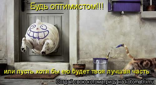Котоматрица: Будь оптимистом!!! или пусть хотя бы ею будет твоя лучшая часть