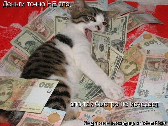 Котоматрица: Деньги точно НЕ зло, зло так быстро не исчезает...