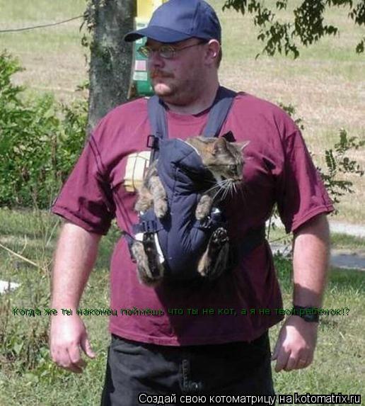 Котоматрица: Когда же ты наконец поймёшь что ты не кот, а я не твой ребёнок!?