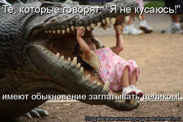 """Котоматрица: Те, которые говорят: """"Я не кусаюсь!"""" - имеют обыкновение заглатывать целиком имеют обыкновение заглатывать целиком имеют обыкновение заглат"""