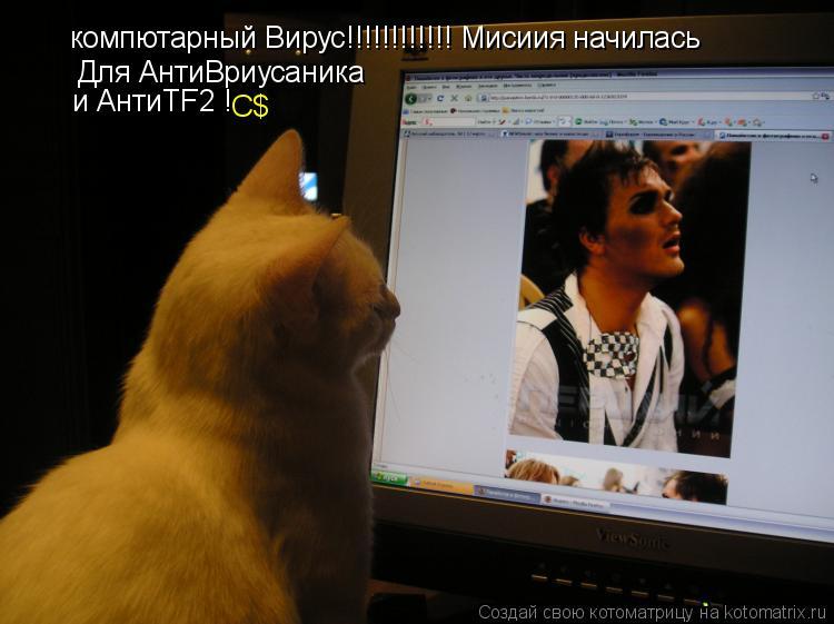 Котоматрица: компютарный Вирус!!!!!!!!!!!! Мисиия начилась Для АнтиВриусаника и АнтиТF2 ! C$