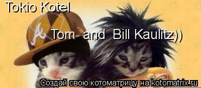 Котоматрица: Tokio Kotel Tom  and  Bill Kaulitz))