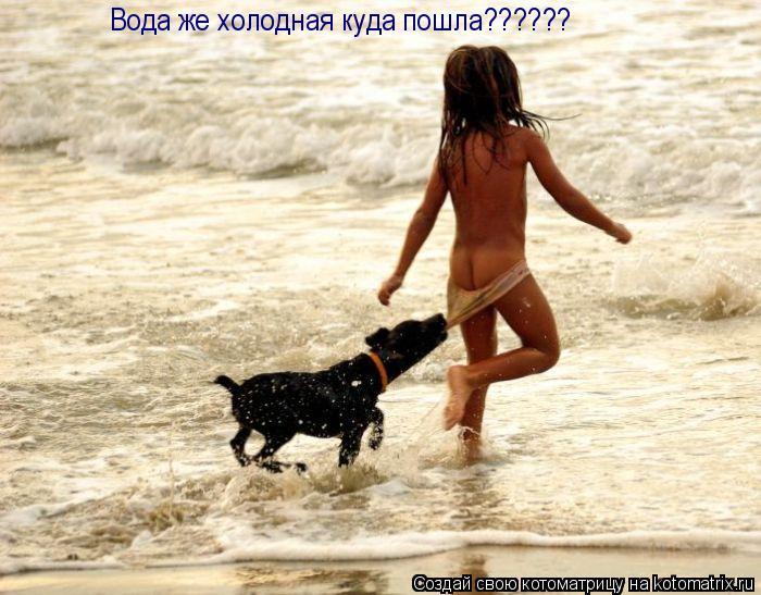 Котоматрица: Вода же холодная куда пошла??????