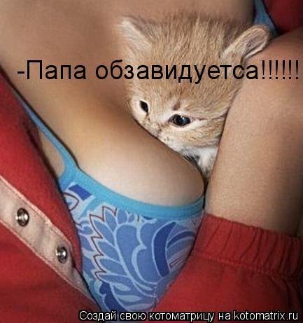 Котоматрица: -Папа обзавидуетса!!!!!!