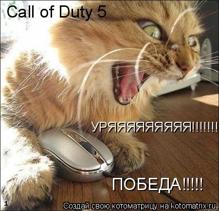 Котоматрица: УРЯЯЯЯЯЯЯЯЯ!!!!!!!!!!!!!! ПОБЕДА!!!!! Call of Duty 5