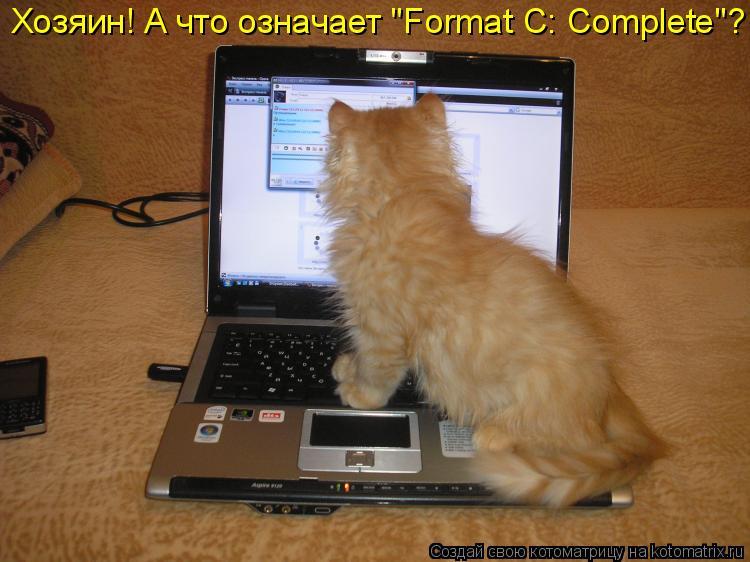 "Котоматрица: Хозяин! А что означает ""Format C: Complete""?"