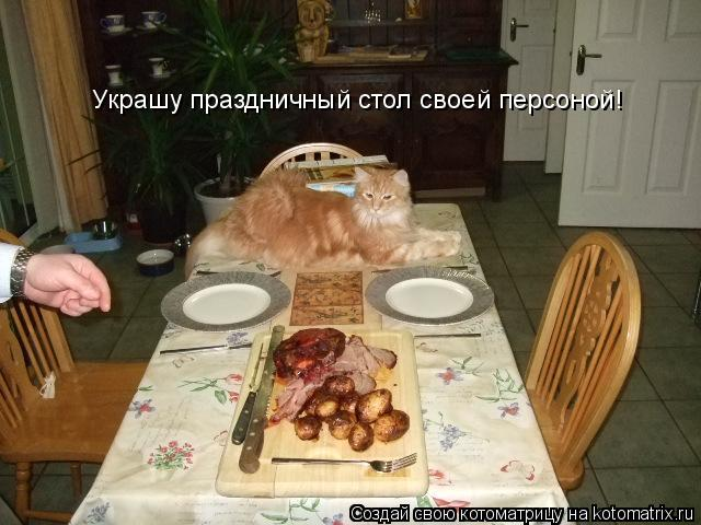 Котоматрица: Украшу праздничный стол своей персоной!
