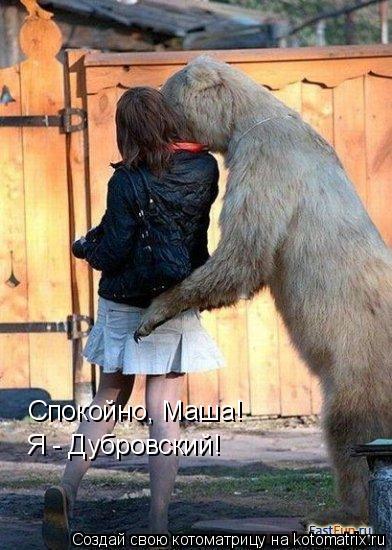 Котоматрица: Спокойно, Маша! Я - Дубровский!