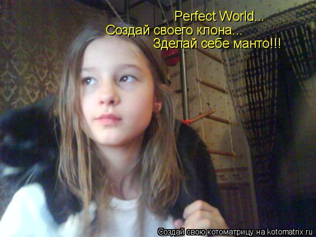 Котоматрица: Perfect World... Создай своего клона... Зделай себе манто!!!