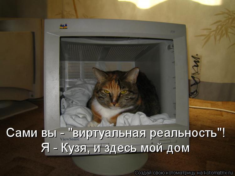 """Котоматрица: Сами вы - """"виртуальная реальность""""! Я - Кузя, и здесь мой дом"""