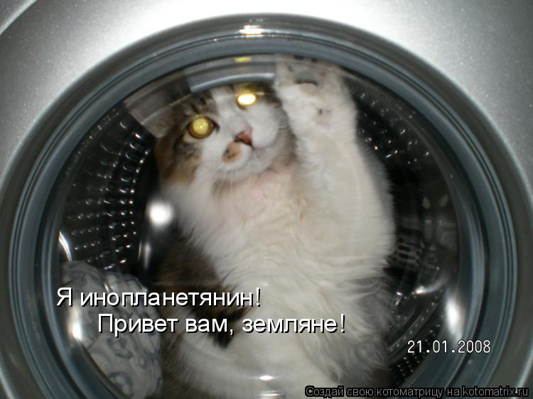 Котоматрица: Я инопланетянин! Привет вам, земляне!