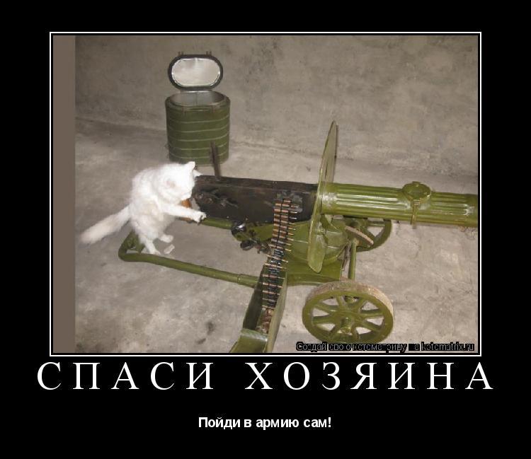 Котоматрица: Спаси хозяина Пойди в армию сам!