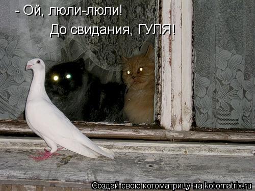 Котоматрица: - Ой, люли-люли! До свидания, ГУЛЯ!