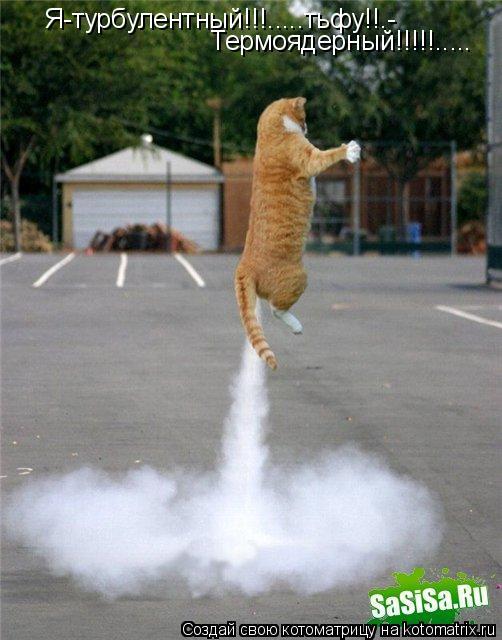 Котоматрица: Я-турбулентный!!!.....тьфу!!.- Термоядерный!!!!!.....