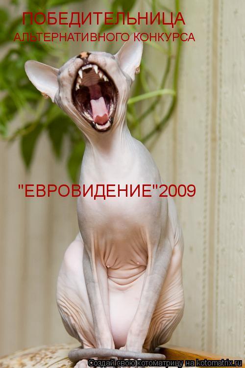 """Котоматрица: ПОБЕДИТЕЛЬНИЦА АЛЬТЕРНАТИВНОГО КОНКУРСА """"ЕВРОВИДЕНИЕ""""2009"""