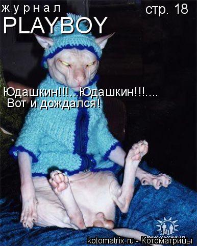 Котоматрица: ж у р н а л PLAYBOY стр. 18 Вот и дождался! Юдашкин!!!...Юдашкин!!!....