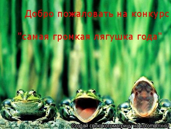 """Котоматрица: Добро пожаловать на конкурс  """"самая громкая лягушка года"""""""
