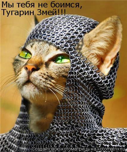 Котоматрица: Мы тебя не боимся, Тугарин Змей!!!