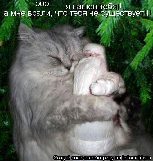 Котоматрица: ооо.... я нашел тебя!!... а мне врали, что тебя не существует!!!