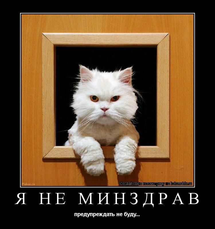 Котоматрица: Я НЕ МИНЗДРАВ предупреждать не буду...