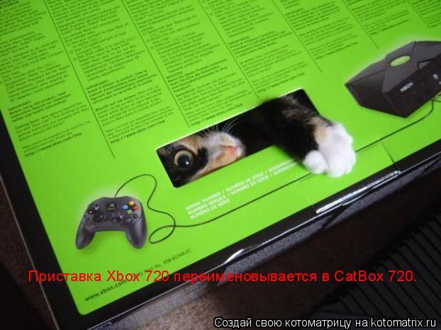 Котоматрица: Приставка Xbox 720 переименовывается в CatBox 720.