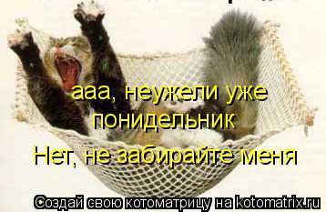 Котоматрица: ааа, неужели уже понидельник,нет не забирайте меня ааа, неужели уже понидельник Нет, не забирайте меня